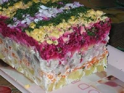 рецепт салат охотничий. рецепты салатов от скрипкиной.