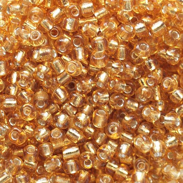 бисер мелкий(22в)золото/огонек - фото 1.