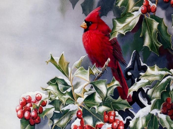 известные картины на тему зима и новый год - Сумки.