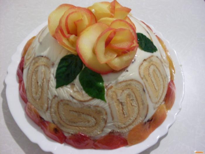 Торт рулет рецепт фото пошагово