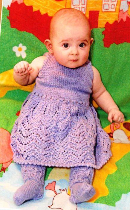 Фото вязанных платьев для детей