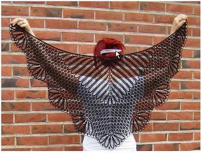 Описание: На страницу Вязание шали Шаль 4. Схема вязания шали крючком.  Автор: Генриетта.