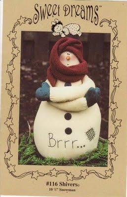 Попробуем сшить такого Снеговика в подарок.