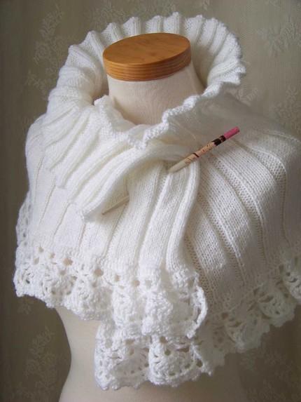 манишка на спицах - Выкройки одежды для детей и взрослых.