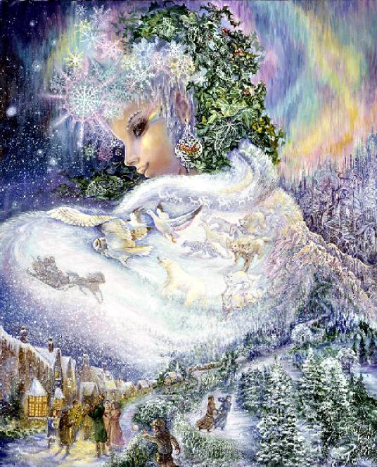 Картинки фэнтези любовь зимой