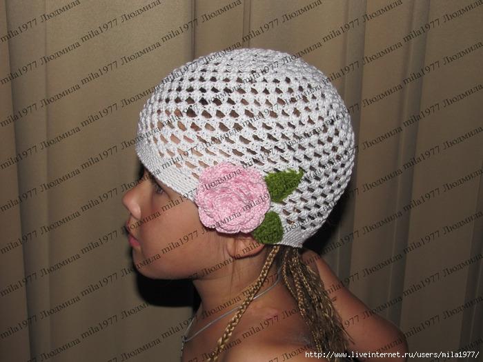 Как связать детскую шапку на год