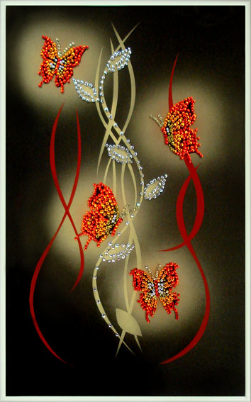 серьги золотые кольца бабочки