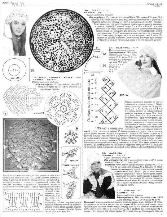 Журнал мод вязание беретов