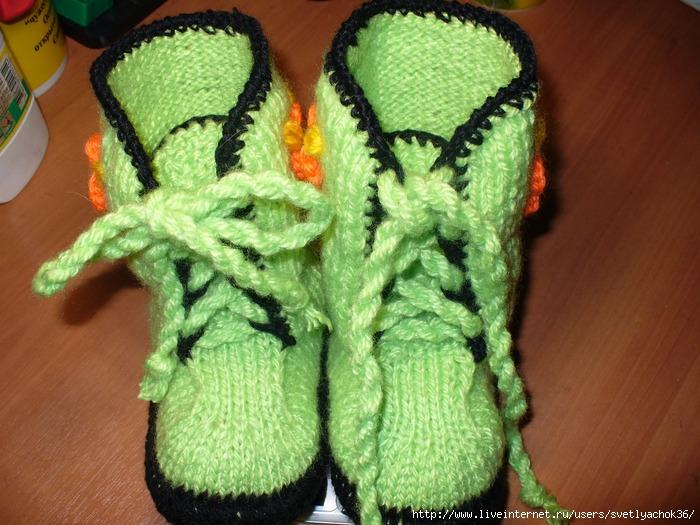Угги Подробное Описание Вязания