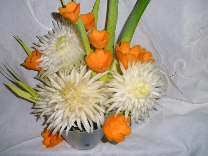 Цветы своими руками из капусты