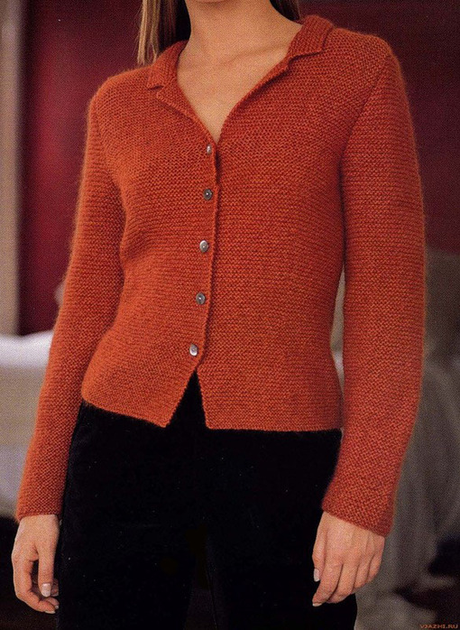 Вязание на спицах женской одежды.