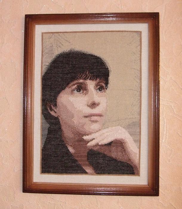 Вышивка крестом свой портрет 69