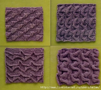 Нестандартные узоры вязания спицами