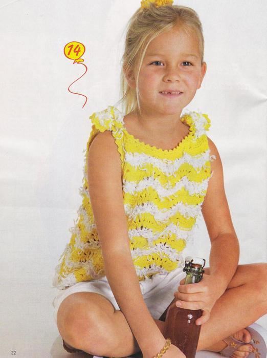 купальник вязанный крючком для детей фото