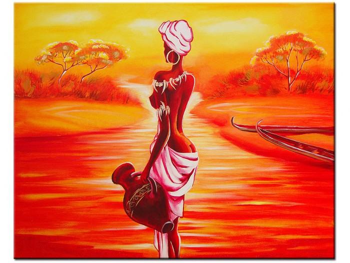 Африканские мотивы(живопись) .