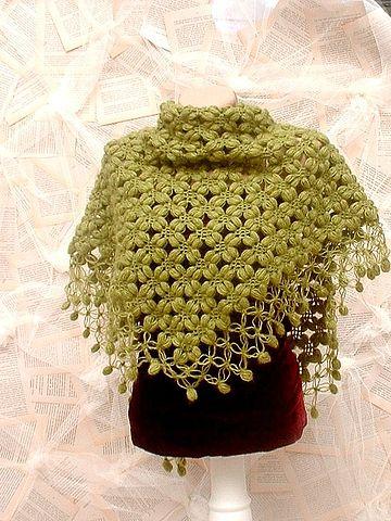 схема. вязания шали