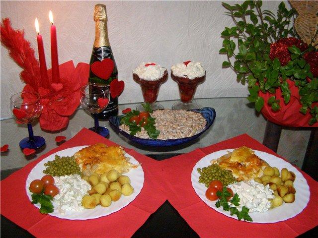 Романтический ужин в домашних условиях фото