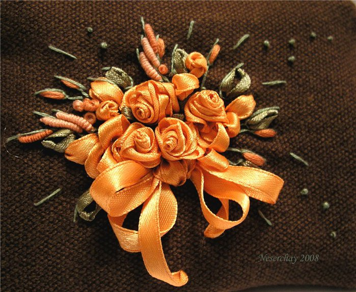 Шов навивкой — рококо