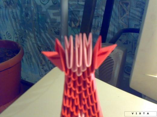 модульное оригами - схема сборки лодки-дракона.