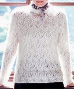 Пуловер Из Тонкой Пряжи