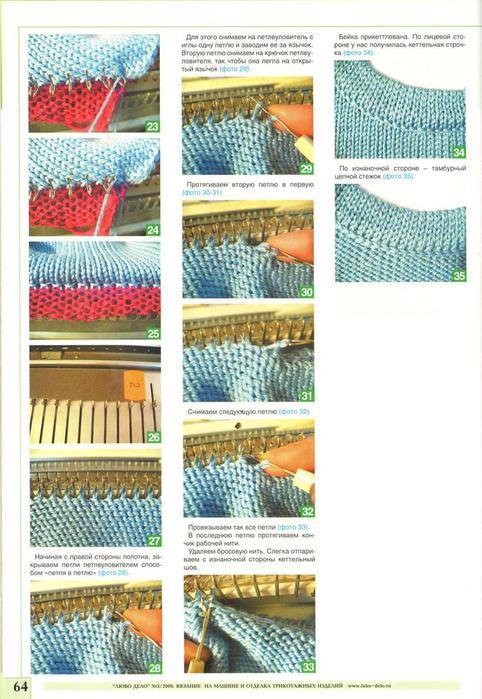 Уроки вязания на машине