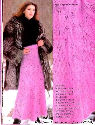 платье из тонкого мохера