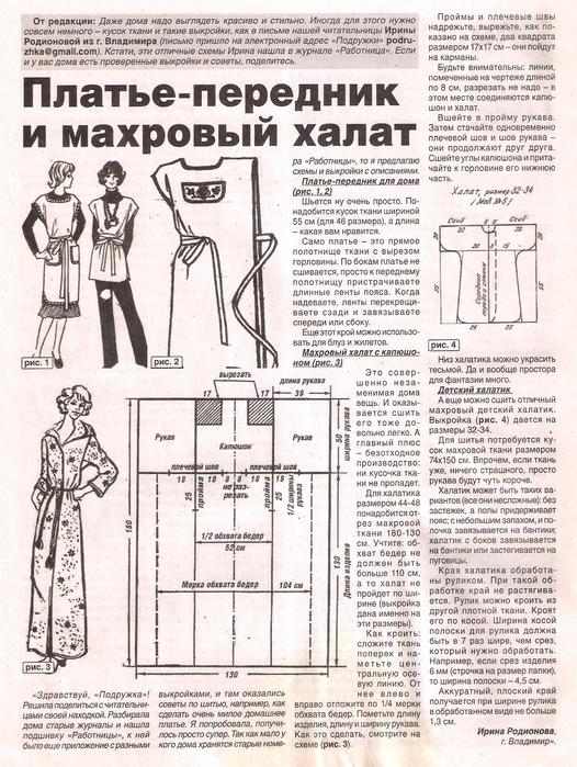 Выкройка юбки со