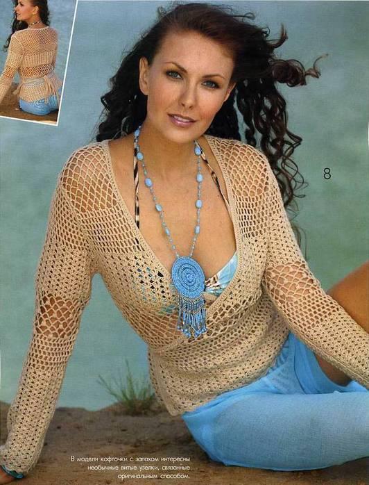 Жакеты, блузки, блузоны.  Вязание крючком Crochet.  СТИЛИ.  СЕЗОНЫ.