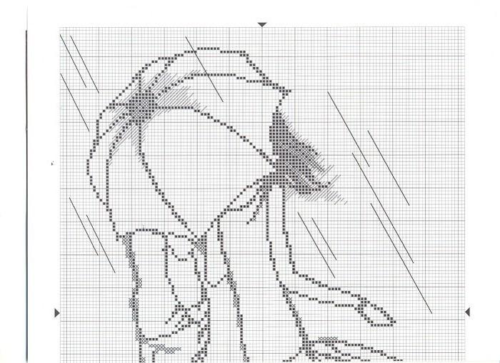 Вышивка крестом схемы черно белые силуэты 42