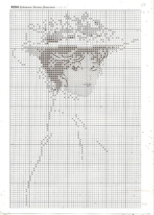 Вышивки схемы дама в шляпе монохром 9