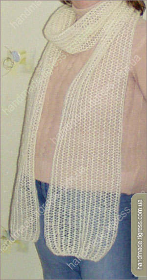 Комментарий: вязание спицами из мохера модели.