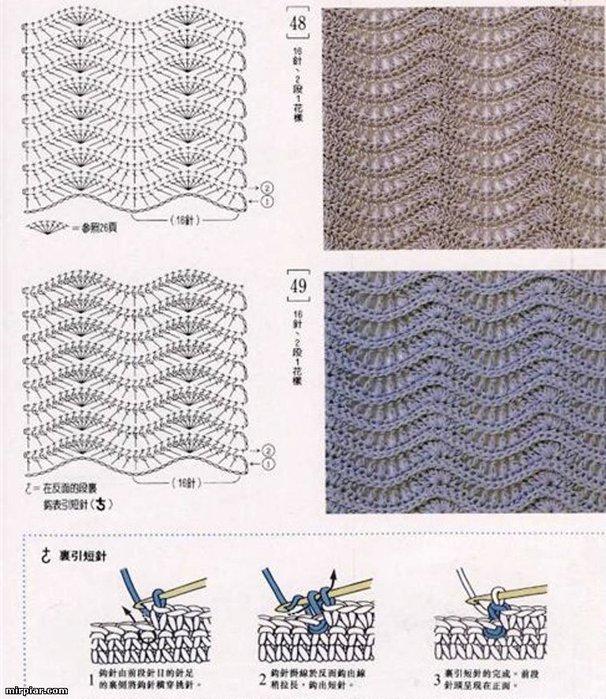 детские платья крючком со схемами японскими ткань.