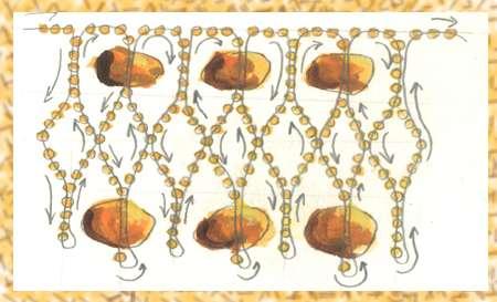 """Часть 1. Часть 2. Прикраси з бісеру.  Схема гердана  """"Надин """".  Схема колье  """"Одетта """".  Схемы для бисерного ткачества..."""