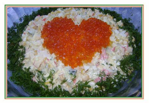 рецепт салата из крабовых палочек моркови