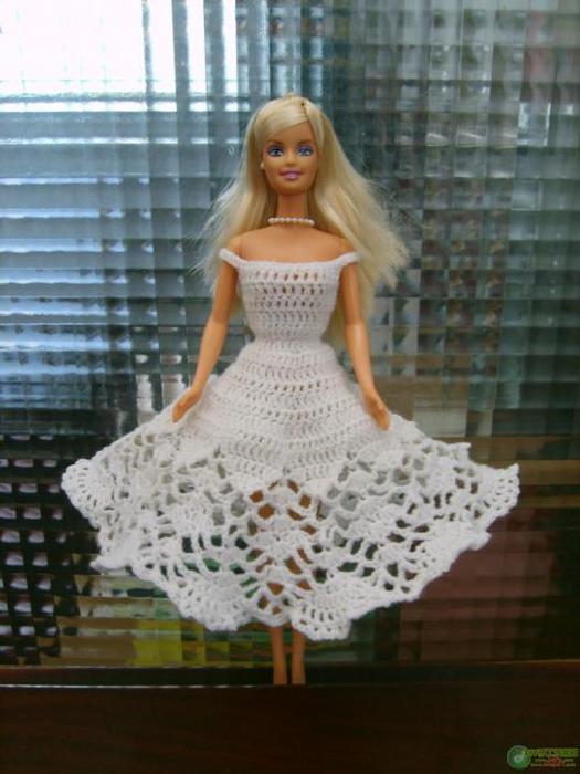 вязание крючком платья для