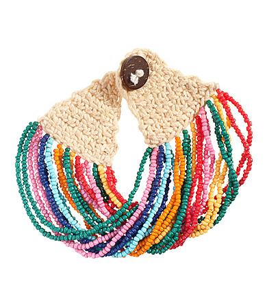 """На быструю руку набралось немного...  На сайте магазина информация про браслет следующая:  """"Crocheted bracelet with..."""
