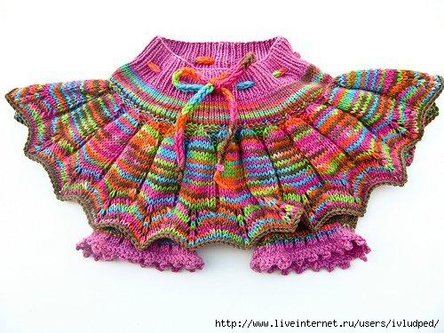 вязание спицами для детей юбки.