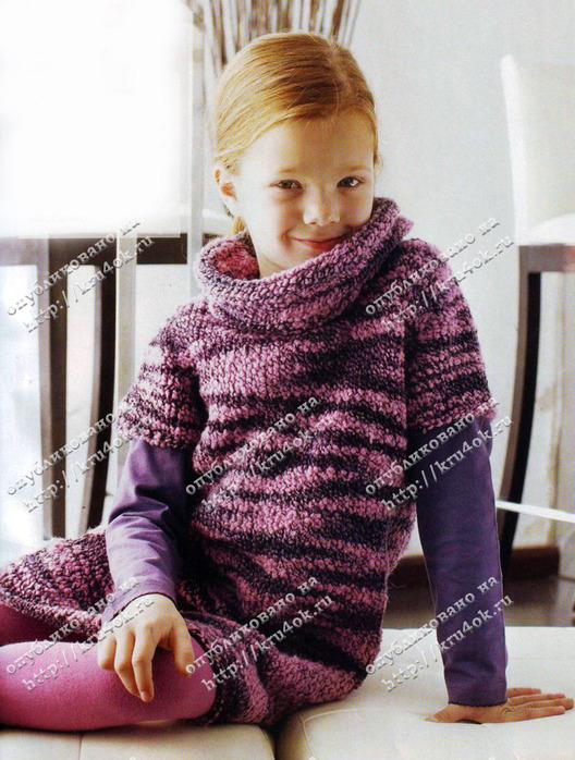 Схема вязанного платья для