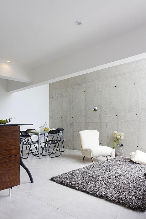 Лофт с кубической кухней от Oneto/Sousa Arquitectura interior в Перу.