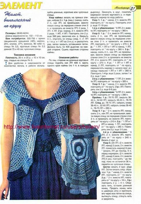 Вязание крючком жилетов для полных женщин