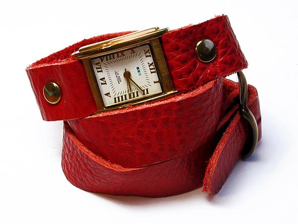 Кожаные браслеты в 2-3 оборота для часов.