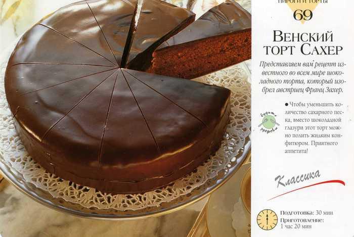Венский торт вкусные тортики