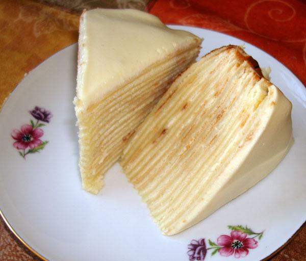Рецепт блинного торта с пошагово с маскарпоне