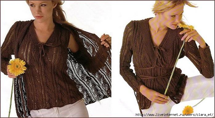 Схемы вязания спицами и модели вязания крючком бесплатно. .  Ажурные вязанные изделия.