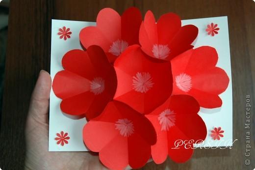 Цветок в открытке своими