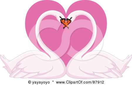 Vector Illustration  swans in love EPS Clipart