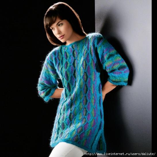 Цветное вязание джемпер