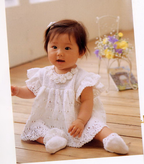 Вязание на спицах. для маленьких девочек 735
