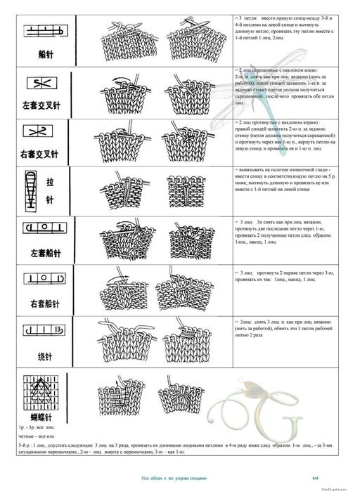 Китайские схемы для вязания на спицах