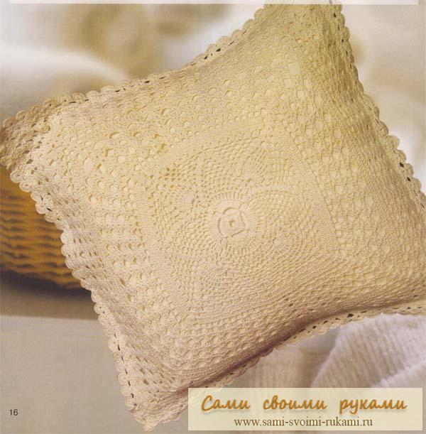 вот такую подушку крючком